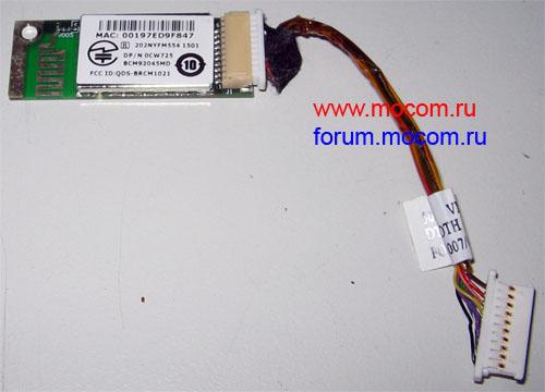 DELL TRUEMOBILE 355 0CW725 BCM92045MD BLUETOOTH MODULE V 2.0